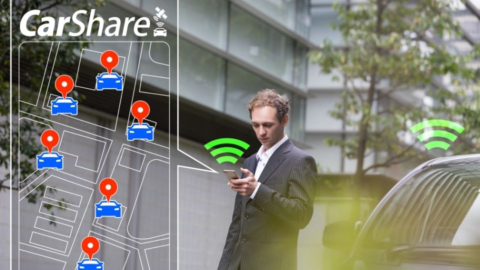 Car sharing service reducing emissions in cities