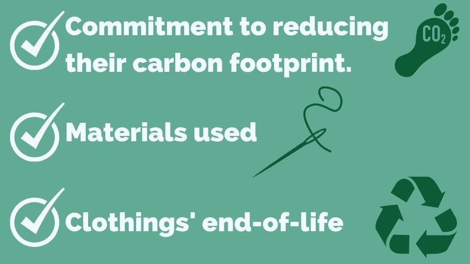 Checklist for eco friendly clothing