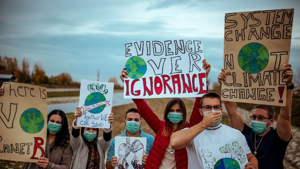 Environmental youth protest