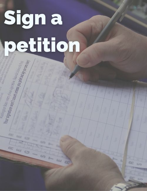 Sign petitions to help with the climate crisis