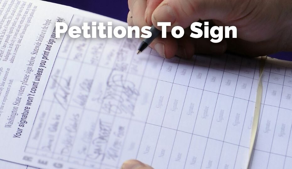 Eco friendly Petitions to sign
